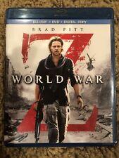 World War Z (Blu-ray/DVD,2-Disc Set) - Brad Pitt Free Shipping!