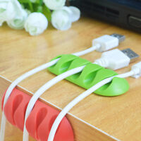 Plastic Mouse Desk Tidy Organiser Cable Drop Clip Wire Cord USB Charger Holder