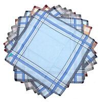 12X Men Vintage Pocket Square Hankerchief Hanky Wedding Party Handkerchiefs