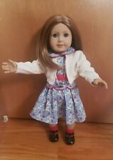 American Girl Emily/'s White Sweater Accessories Cardigan Meet New