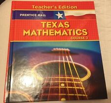 Prentice Hall Math Course 3 Textbook Texas Teachers Edition  Homeschool