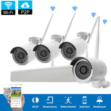 Wireless 4CH 1080P NVR Indoor/Outdoor IR Night Vision Camera Security System Kit