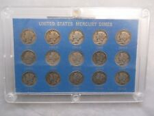 Mercury Dime Set 1941-1945 With All Mint Marks P,D,S - 15 Coins Total *Free Ship