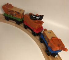 Thomas Wooden Railway Pirate Ship Wreck Transport Cargo Car Train Set Toy Lot
