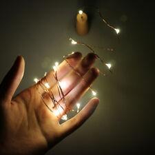 2M 20 LED Kupferdraht Lichterketten mit Flaschenverschluss für Glas Weinflasche