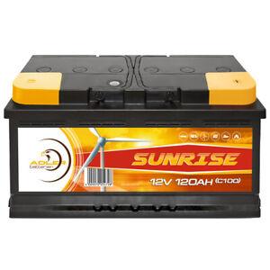 Adler Solar Batterie 12V 120Ah Verbraucher Boot Versorgung Camping ersetzt 100Ah