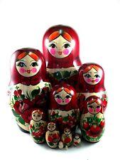 Nesting Dolls set 11 pcs Russian Matryoshka Traditional Babushka Stacking Wooden