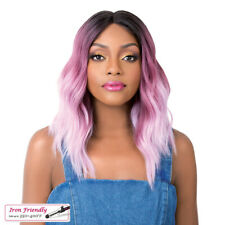 SWISS LACE SUN KISS | BLONDE/PINK/BLUE/LILAC | SYNTHETIC LACE FRONT | IT'S A WIG