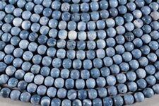 Cuentas azules redondos para joyería artesanal