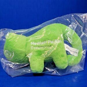 Suse Software HPE Hewlett Packard Green Chameleon Promo Plush Animal 6 Inch NIP