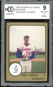 1988 Indianapolis Indians Procards #510 Randy Johnson Rookie BGS BCCG 10 Mint+