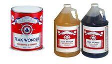 Teak Wonder Kit: 4 lt di Cleaner + 4 lt di Brightener + 4 lt di Dressing Sealer