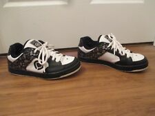 Used Worn Size 9.5 Circa CX205 EL Skateboard Shoes Black White Silver