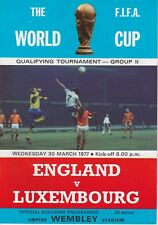 ENGLAND V LUXEMBOURG ~ WORLD CUP QUALIFIER ~ 30 MARCH 1977