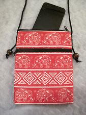 Smart Phone Pouch with Strap Passport Shoulder Bag Thai Elephant Pocket Purse
