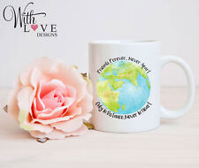 BEST FRIENDS FOREVER LONG DISTANCE TRAVEL COFFEE MUG TEA CUP PERSONALISED GIFT
