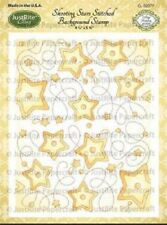 JUSTRITE CLING Rubber Stamps SHOOTING STARS STITCHED BACKGROUND STAMP CL-02077