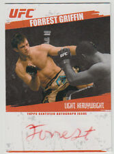 2009 Topps UFC Autographs #FA-FG Forrest Griffin RED Auto #14/25