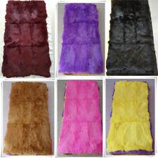 "Luxury 100% Rabbit Fur Throw Pelt Warm Soft Bedspread Blanket Rug Craft 22""X43"""