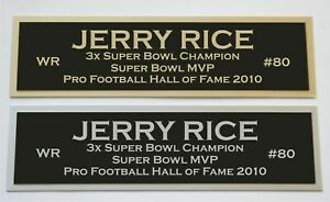 Jerry Rice nameplate for signed jersey football helmet or photo