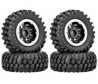 Rc Beadlock Wheels Tires 1/10 Crawler For Hpi Venture Traxxas Trx4