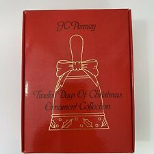 JC Penney 12 Twelve Days of Christmas Bell Ornament Collection Vintage. Box