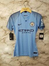 Nike Manchester City Season 2018 - 2019 Womens Soccer Home Jersey Sky Blue Xs
