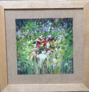 James Carlisle (b.1937) Garden Flowers Oil Modern British Impressionists