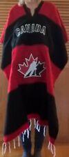 Team Canada Unisex Poncho Red / Black Brand New