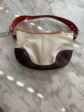 Coach Small Leather/Canvas hobo shoulder bag No. A3J-9508