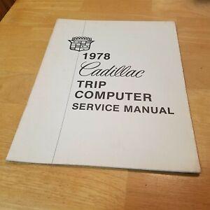 1978 Cadillac Trip Computer Service Manual