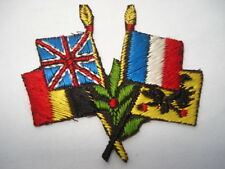 ORIGINAL CWW1 VINTAGE ALLIED FLAGS WOVEN SILK PATCH/BADGE