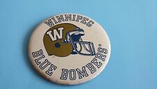 VINTAGE CFL WINNIPEG BLUE BOMBERS HELMUT 3.25 INCHES BUTTON/PINBACK