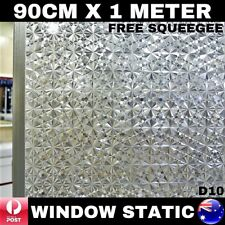 90CM x 1M Static Cling Glueless Reusable Removable Privacy Window Glass Film D10