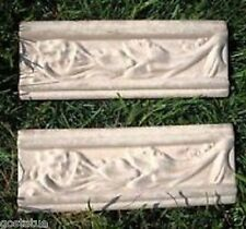 "2 poly trim molds plaster resin cement moulds  8"" x 3"" x 1/3"" thick"