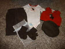 JANIE AND JACK 0-3-6 BABY MOOSE PANTS ONE PIECE BOOTIES VEST HAT SET SHOES