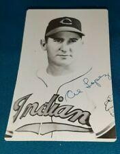 MAR 15,1955 Al Lopez Signed Autographed Vintage B/W cancelled Postcard Photo HOF