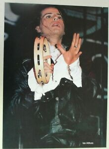 THE CULT Ian Astbury Full Page Pinup magazine clipping WITH TAMBOURINE