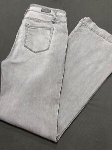Miss Me Jean/Flare Women Sz 32x34-H Rise-Cotton Bl-Gray