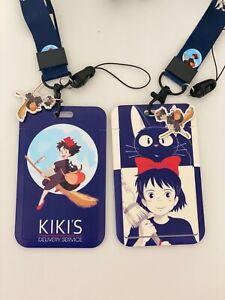 Kikis delivery service black cat Jiji Kawaii charm  ID card holder purse LANYARD
