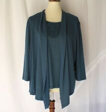 Alfred dunner women's size Petite Large Blouse shirt Cardigan pullover top