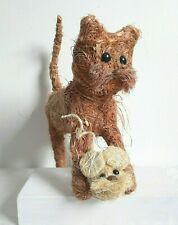 Straw Cat & Mouse - Cute Display