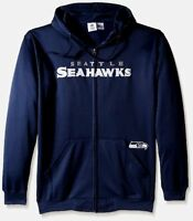 Seattle Seahawks Full Zip Hoodie Therma Base Delay Plus Size Double Logos NFL