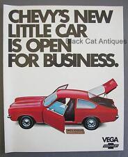 1971 Chevy Vega Hatchback Coupe Sedan Kammback Wgn Panel Express Sales Brochure