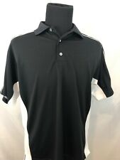 ⛳ FootJoy Golf Polo Shirt Men's Medium Athletic Fit Black & White Stretchy ⛳