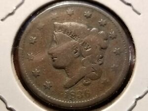 1836 Coronet Head Copper Large Cent     INV04     PL4109