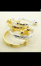 2*14k gold filled silver bangle baby girl boy kid birthday christening gift 0-7