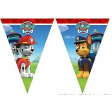 PLEASE VIEW SHOP PAW PATROL GIRL 2.3m Paw Patrol 9 triangle plastic flag banner