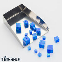 [WHOLESALE] BLUE SYNTHETIC LAB CREATED OPAL CUBE LOOSE BEADS VARIOUS SIZES