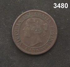 1859 CANADA LARGE CENT AU! #3480